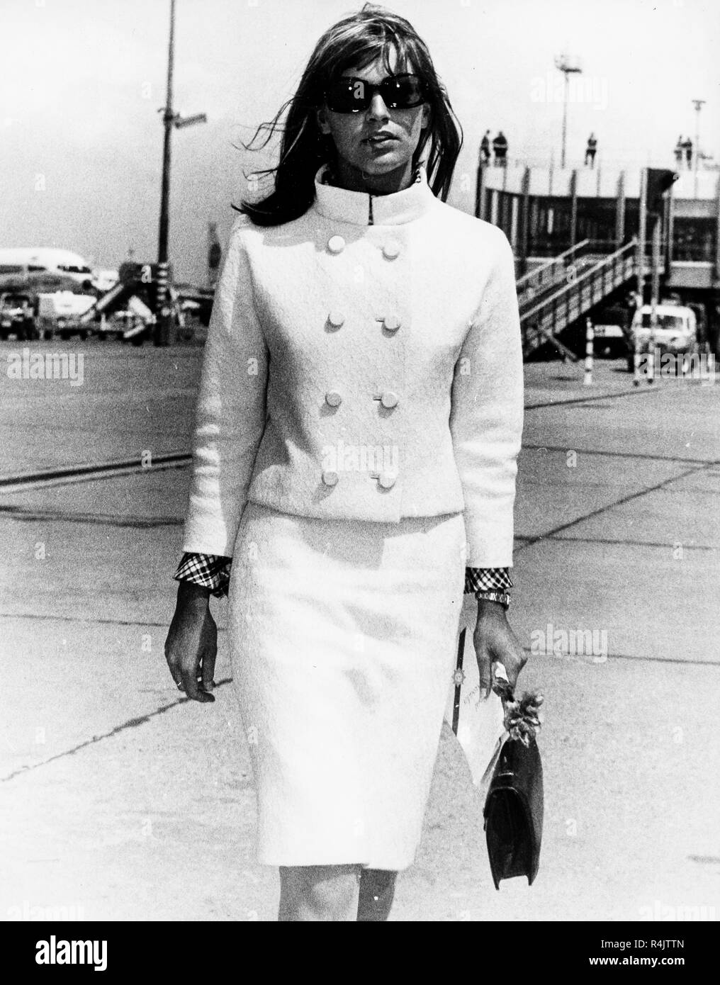 catherine spaak, rome airport, 1966 Stock Photo - Alamy