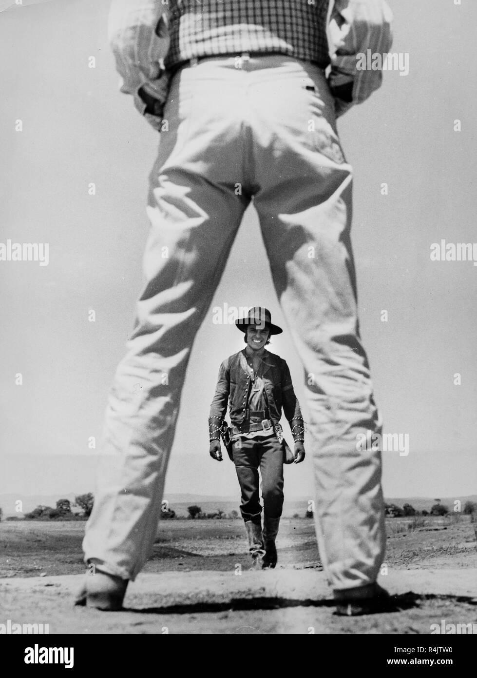 john huston, john saxon, the unforgiven, 1960 - Stock Image