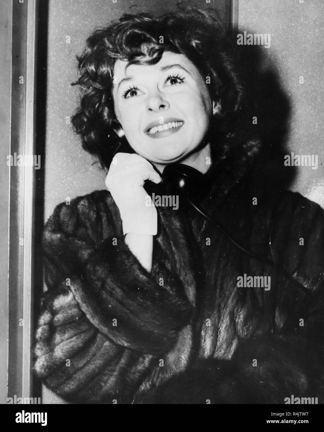 susan hayward, new york, 1956 - Stock Image