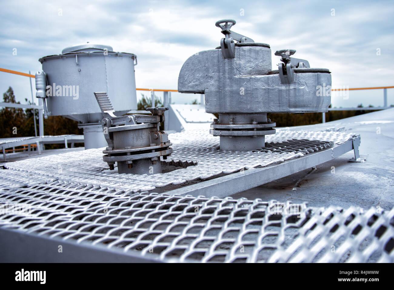 safety valve on the storage tank Stock Photo: 226608869 - Alamy