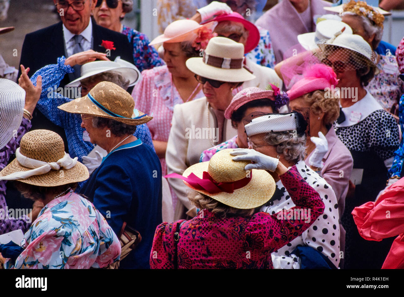 Ascot Races England UK 1986 scanned in 2018 the British Royal Family arrive  and walk about b06c765014f