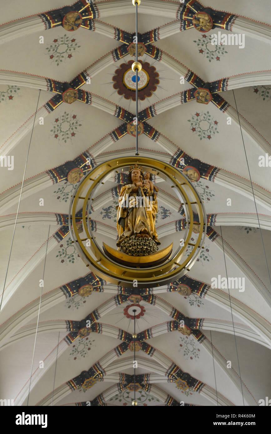 Cover vault, central nave, Servatiusbasilika, Maastricht, the Netherlands, Deckengewoelbe, Mittelschiff, Niederlande - Stock Image