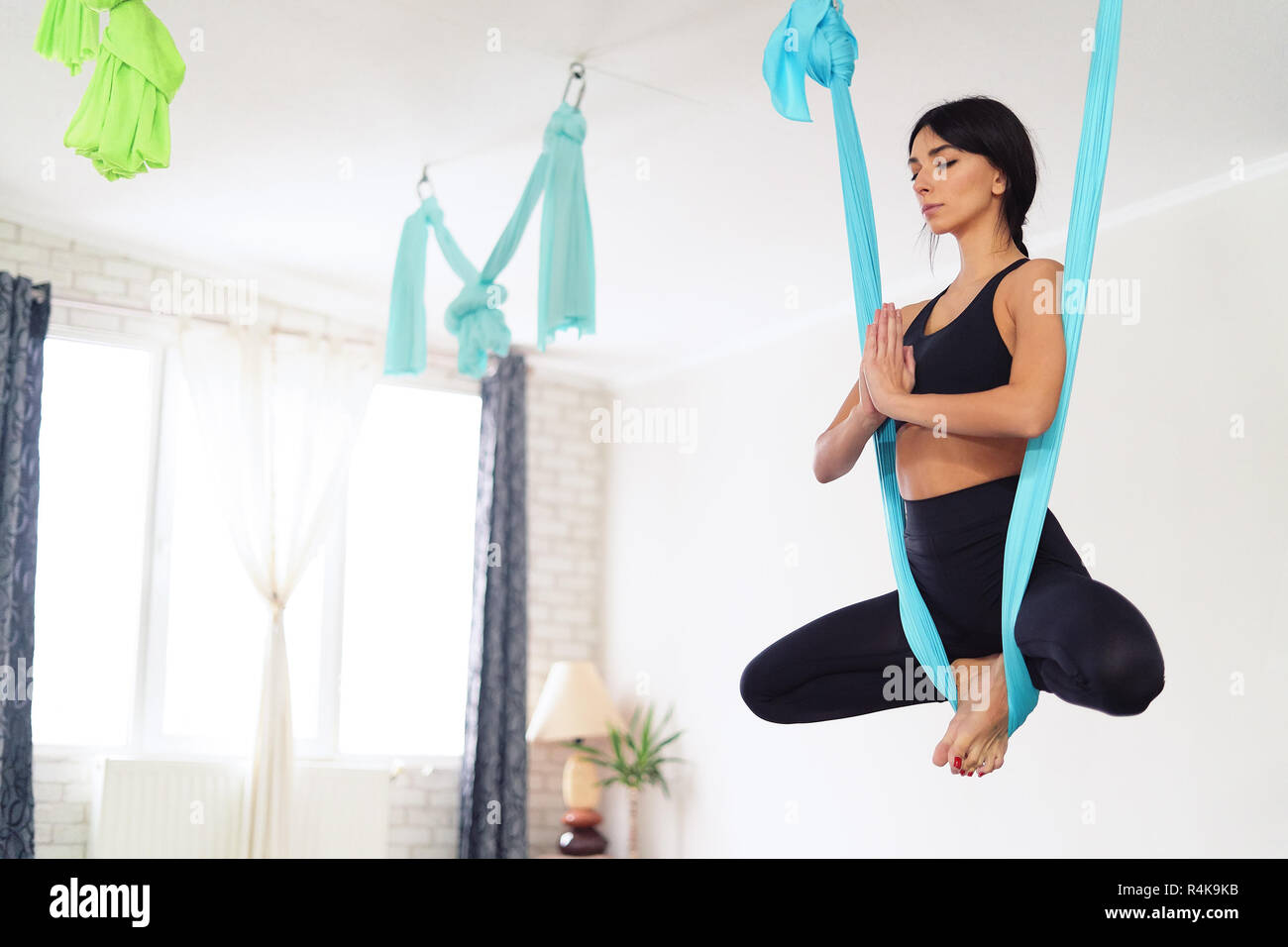Yoga Butterfly Pose High Resolution Stock Photography and Images