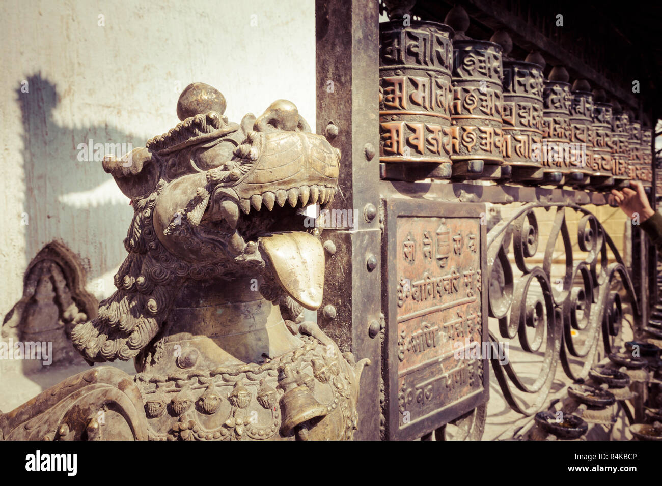 Ancient Tibetan Architecture Symbols Stock Photos & Ancient