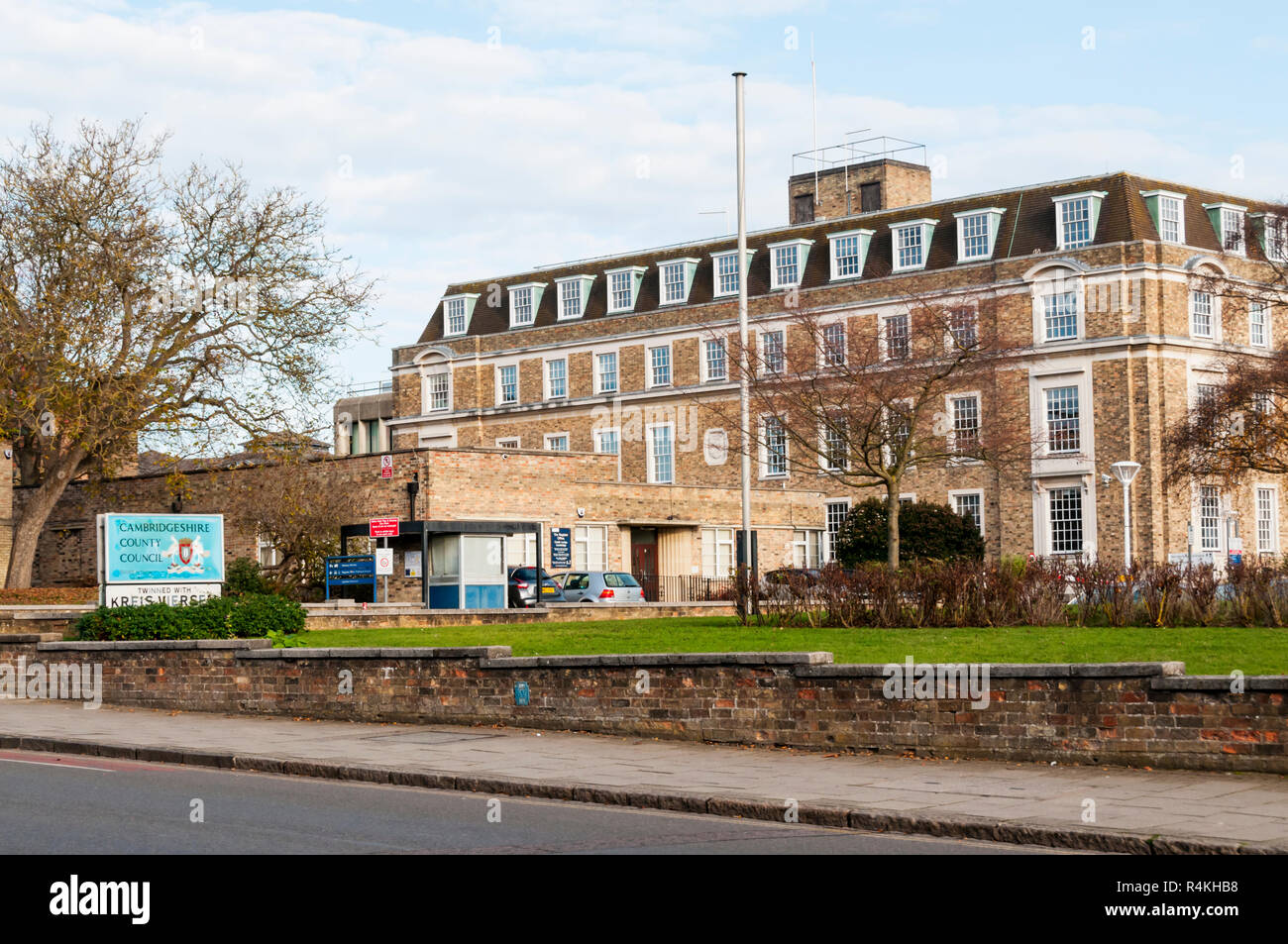 The premises of Cambridgeshire County Council in Castle Street, Cambridge. - Stock Image