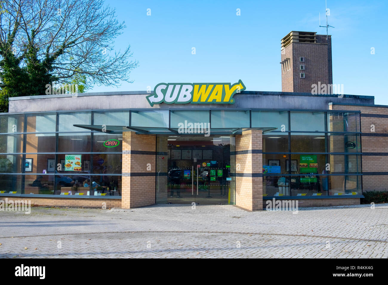 Subway Fast Food Restaurant Exterior East Grinstead Sussex Stock Photo Alamy