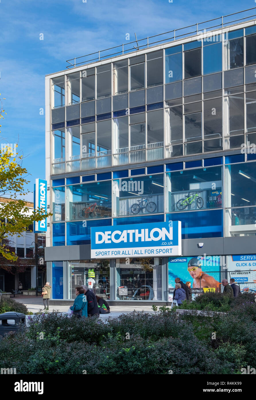 Decathlon shop front, Crawley, Sussex - Stock Image