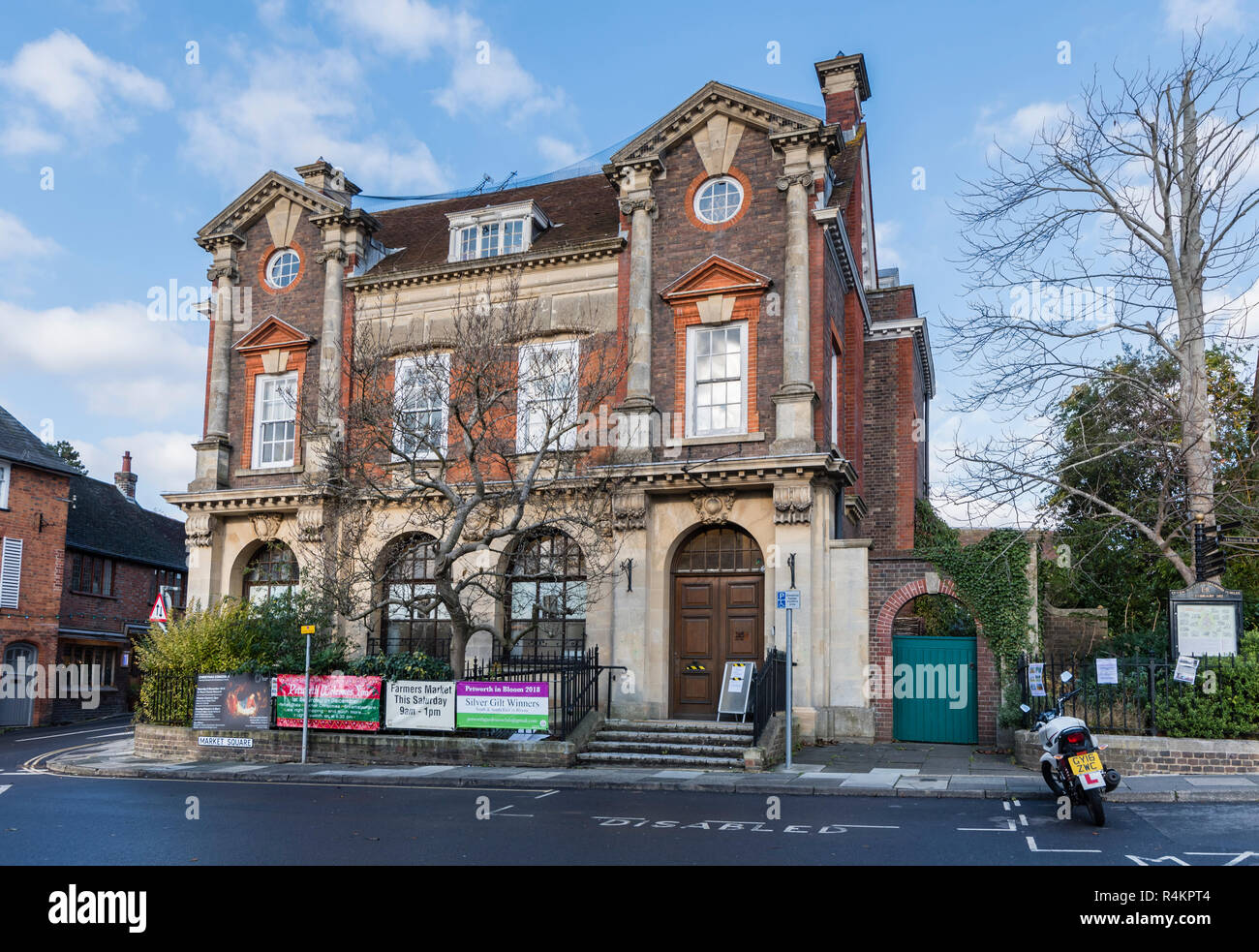Old NatWest Bank building, Petworth's last bank to close in Market Square, Petworth, West Sussex, England, UK. Stock Photo