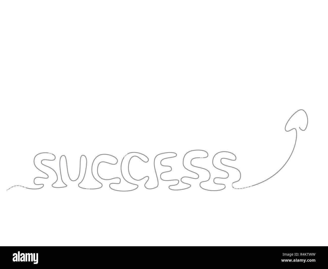 success - continuous line drawing - Stock Image