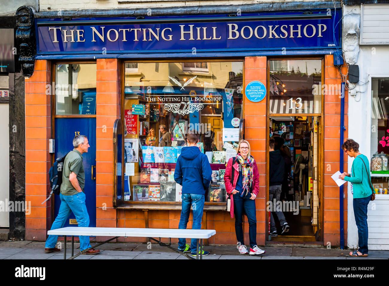 Notting Hill Bookshop, London - Stock Image
