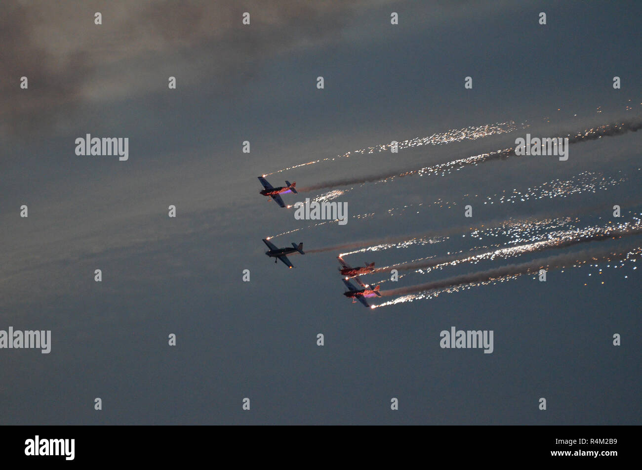 Global Stars aerobatic team, Bahrain Air Show Stock Photo
