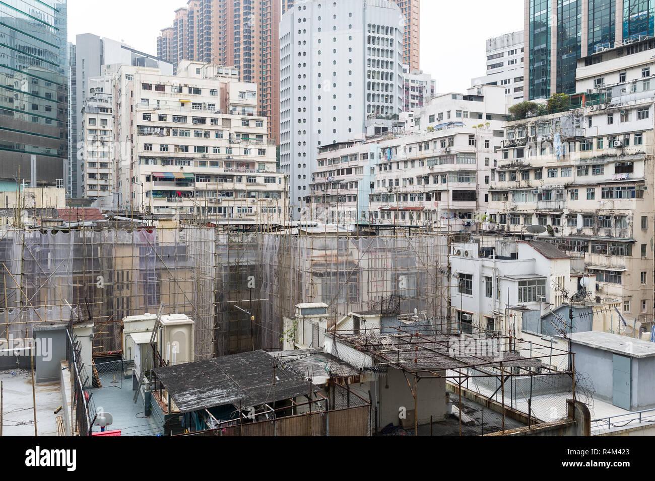 Hong Kong old building - Stock Image