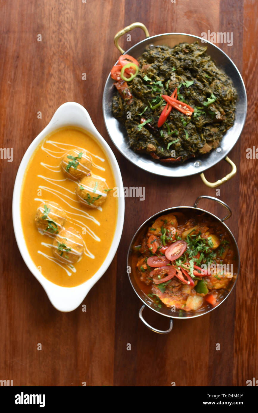 Indian Restaurant Food In The Uk Stock Photo Alamy