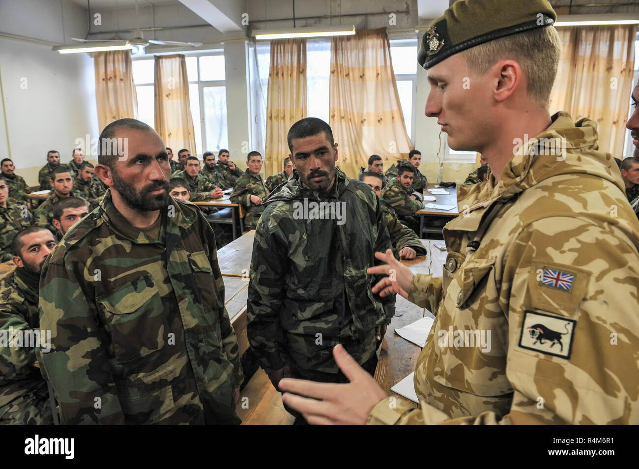 88ff2745a Kabul, Kabul/ Afghanistan - circa 2008: The Kabul Military Training Centre  is a basic training centre for the Afghan Armed Forces. Located about 8 mil