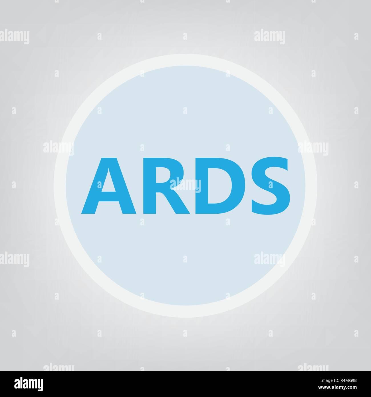 ARDS (Acute Respiratory Distress Syndrome) acronym- vector illustration - Stock Vector