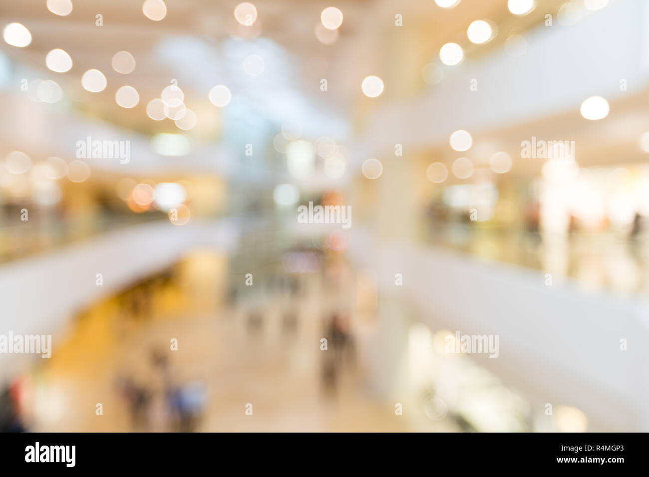 Store blur background with bokeh - Stock Image