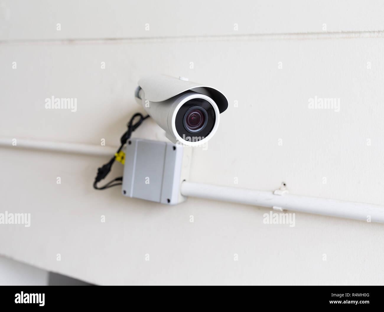 Wall mount surveillance camera - Stock Image