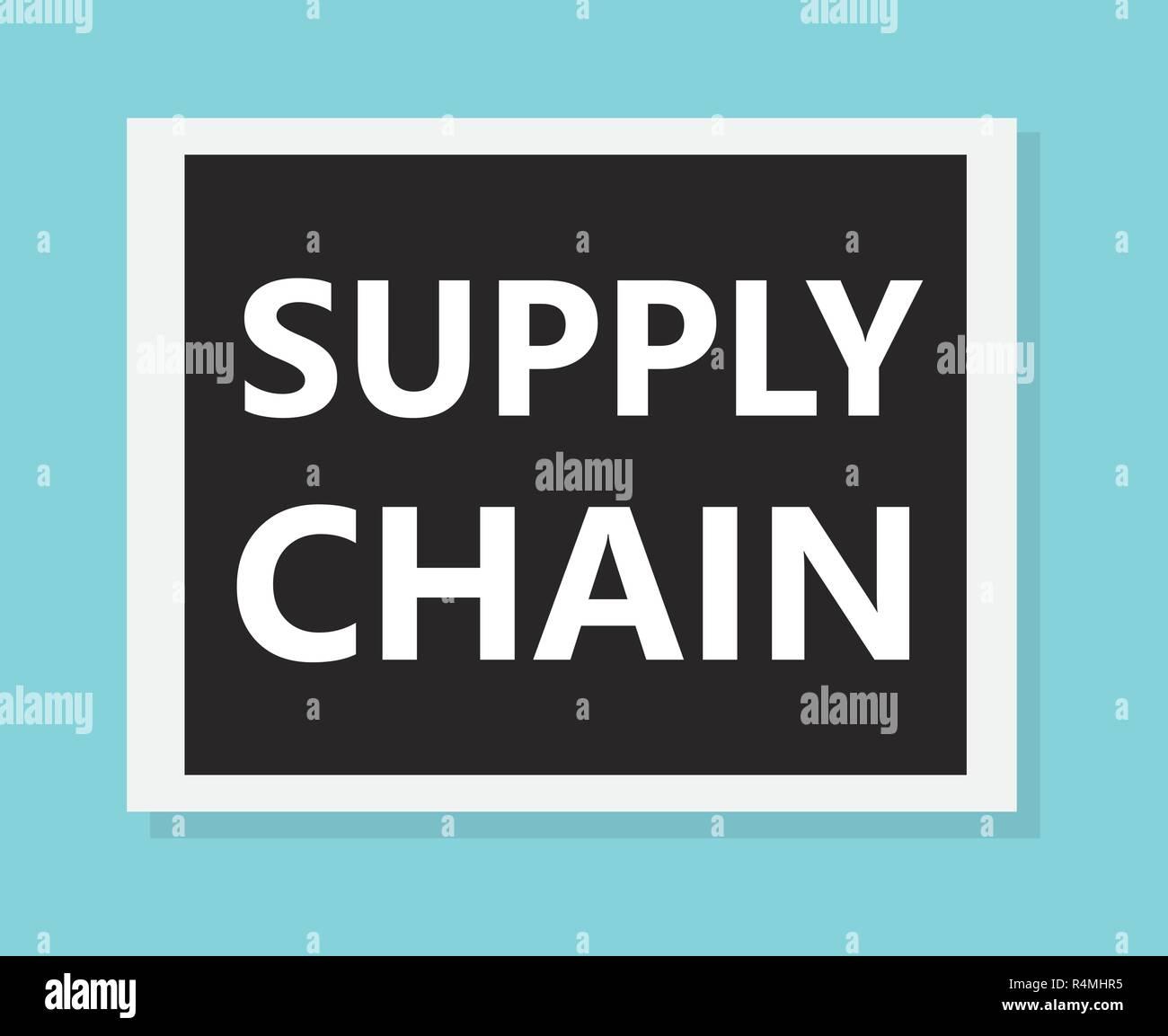 supply chain concept- vector illustration Stock Vector