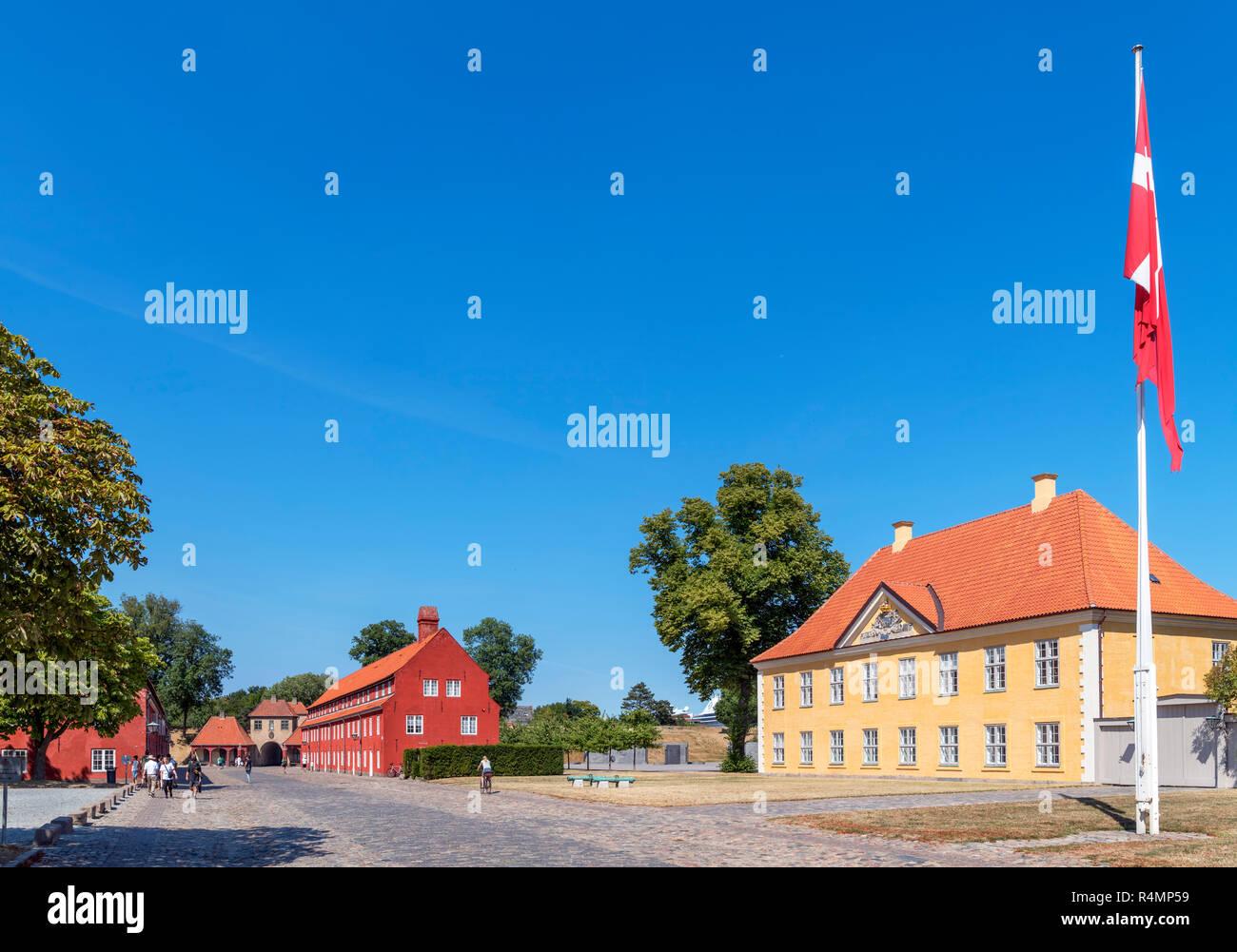 Army barracks in the Kastellet (Citadel), Copenhagen, Denmark - Stock Image