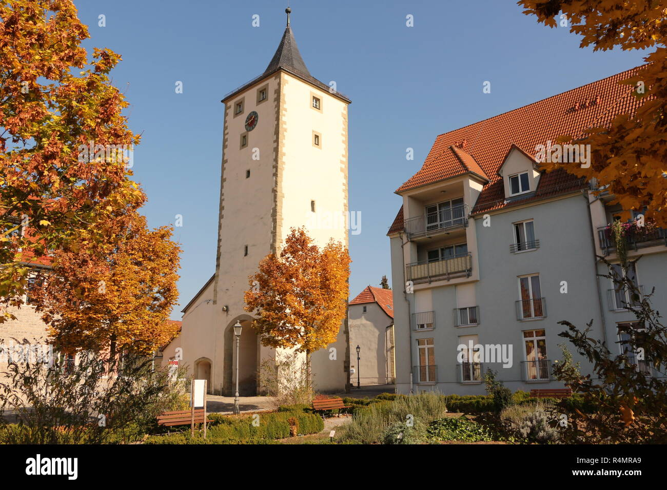 Die Altstadt von Haßfurt in Bayern - Stock Image