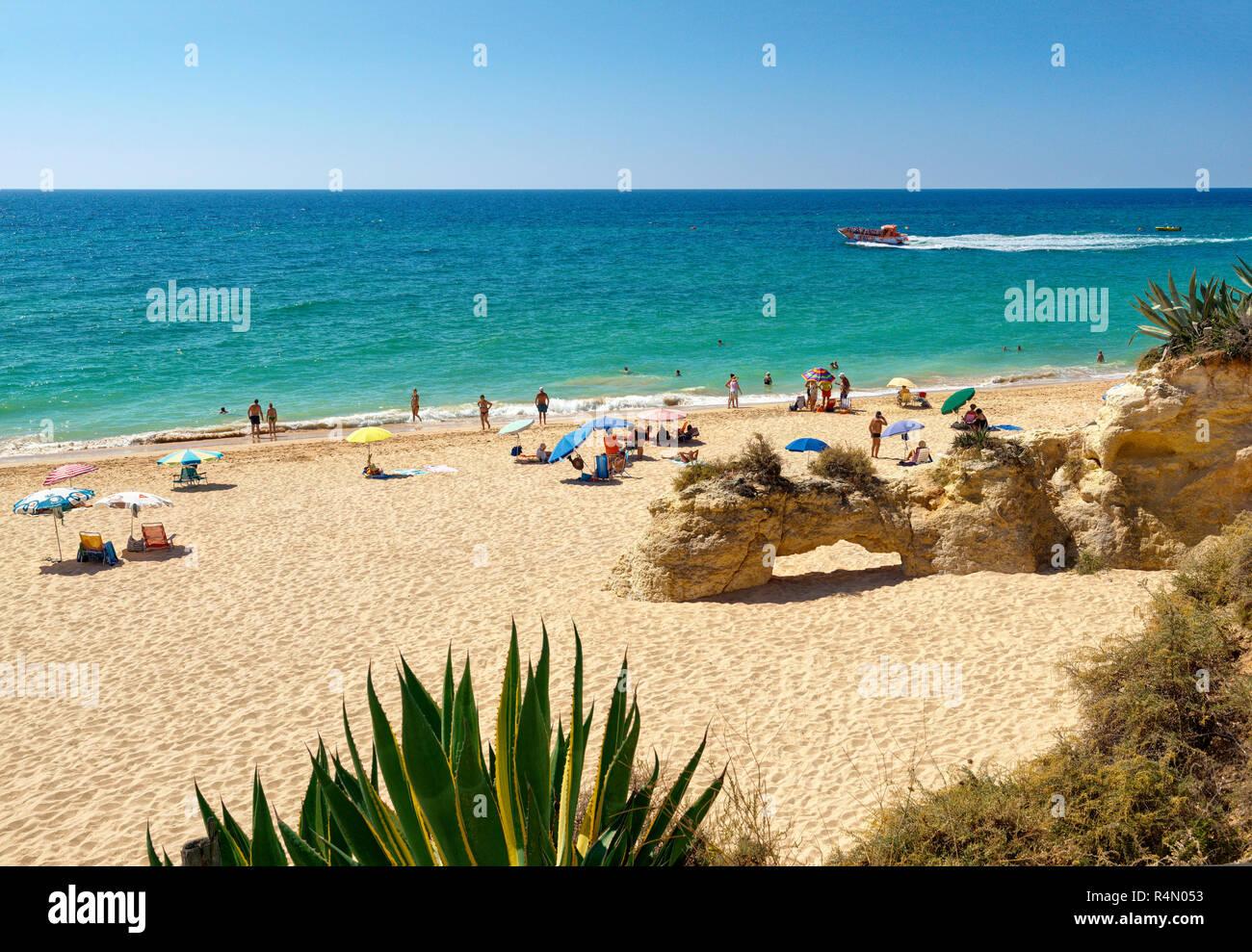 Detail of Armacao de Pera beach - Stock Image