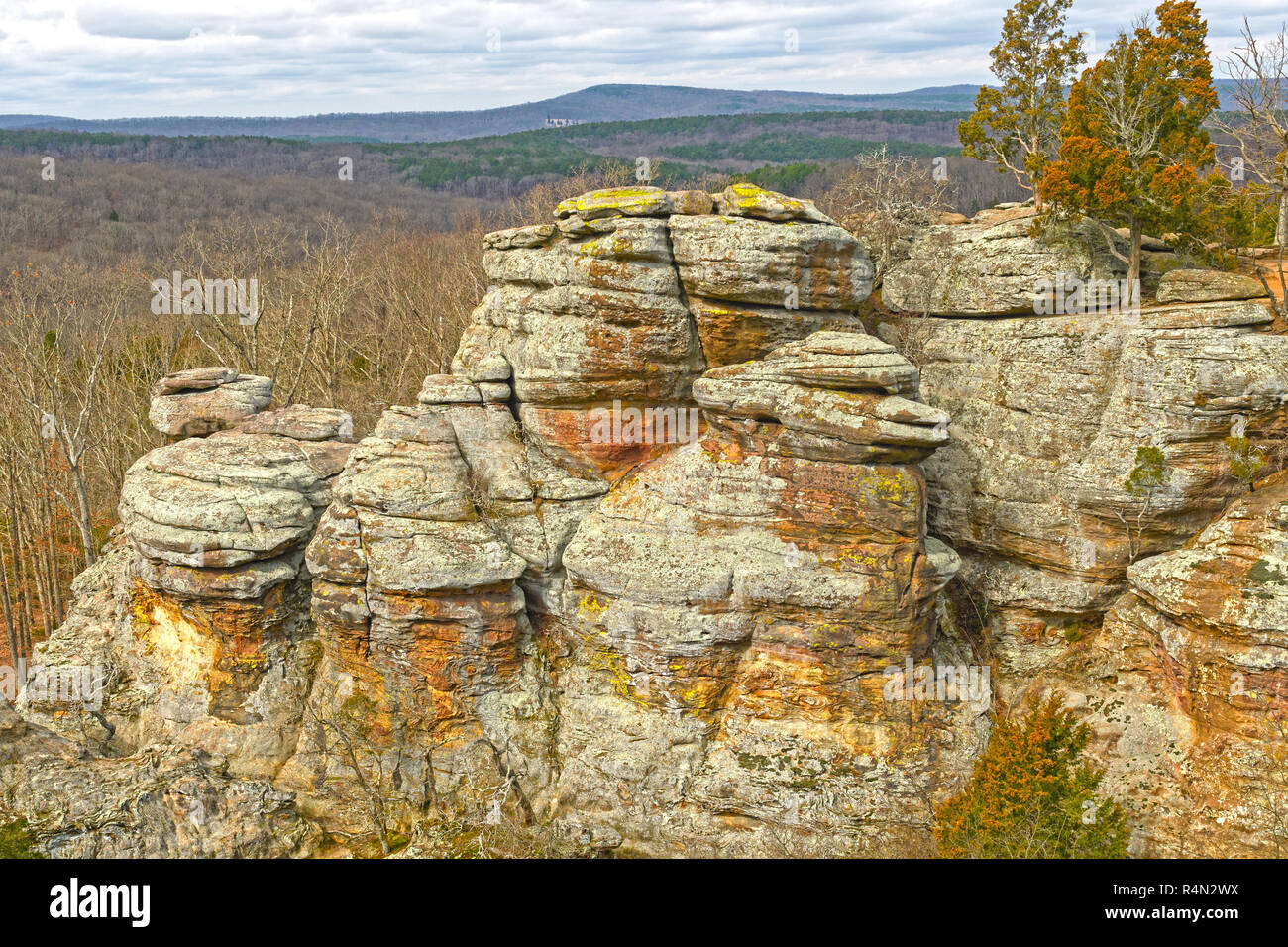 Colorful Rocks in the Wilderness - Stock Image