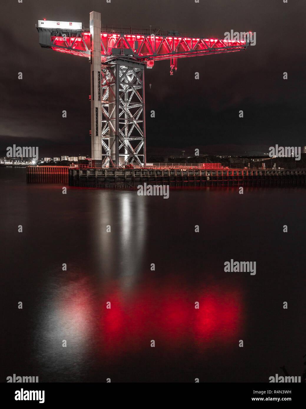 The Titan Crane on the River Clyde, Clydebank, Glasgow, Scotland, UK - Stock Image