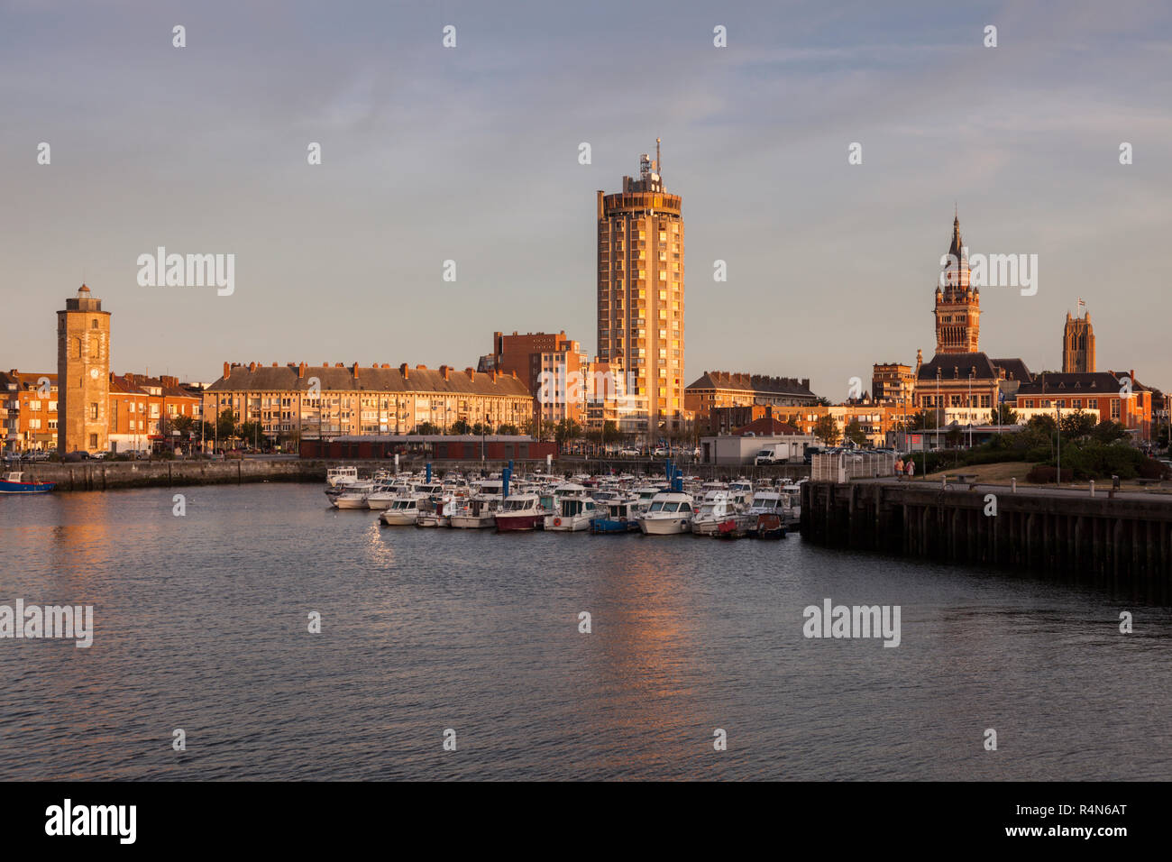Waterfront and architecture in Dunkirk, France - Stock Image