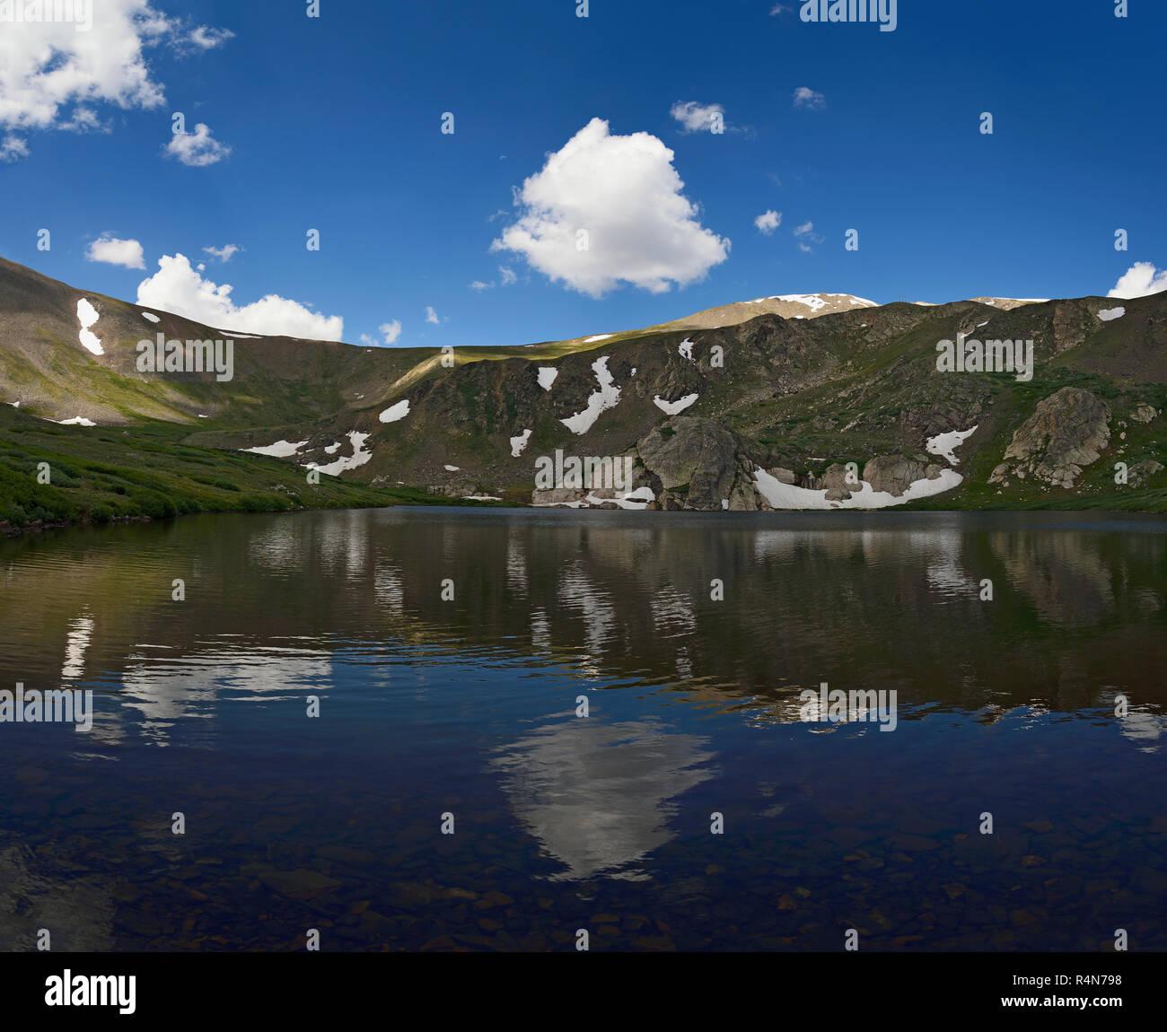 Murray Lake at Guanella Pass, Colorado - Stock Image
