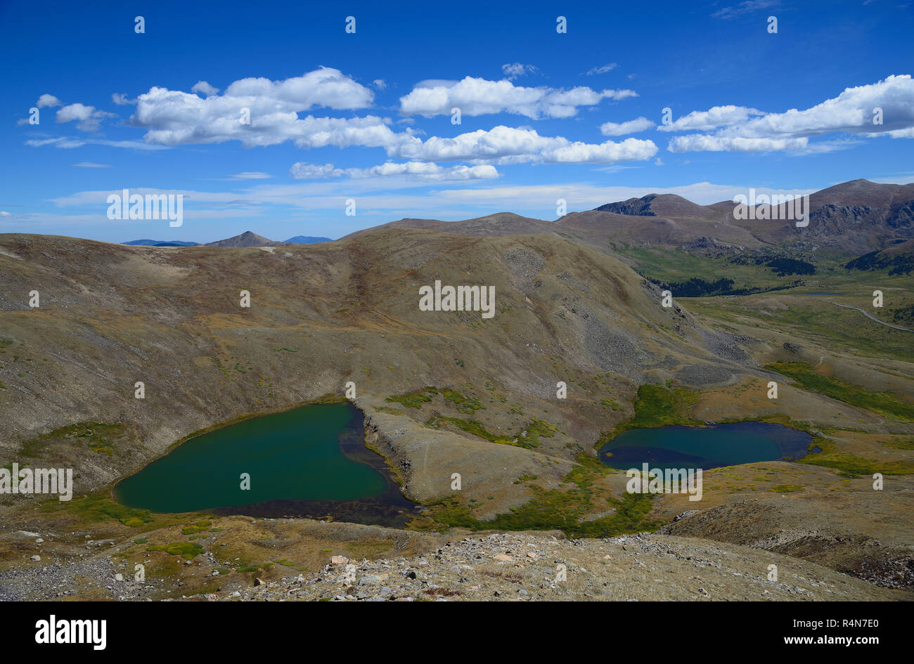Lakes on Square Top Mountain in Colorado - Stock Image