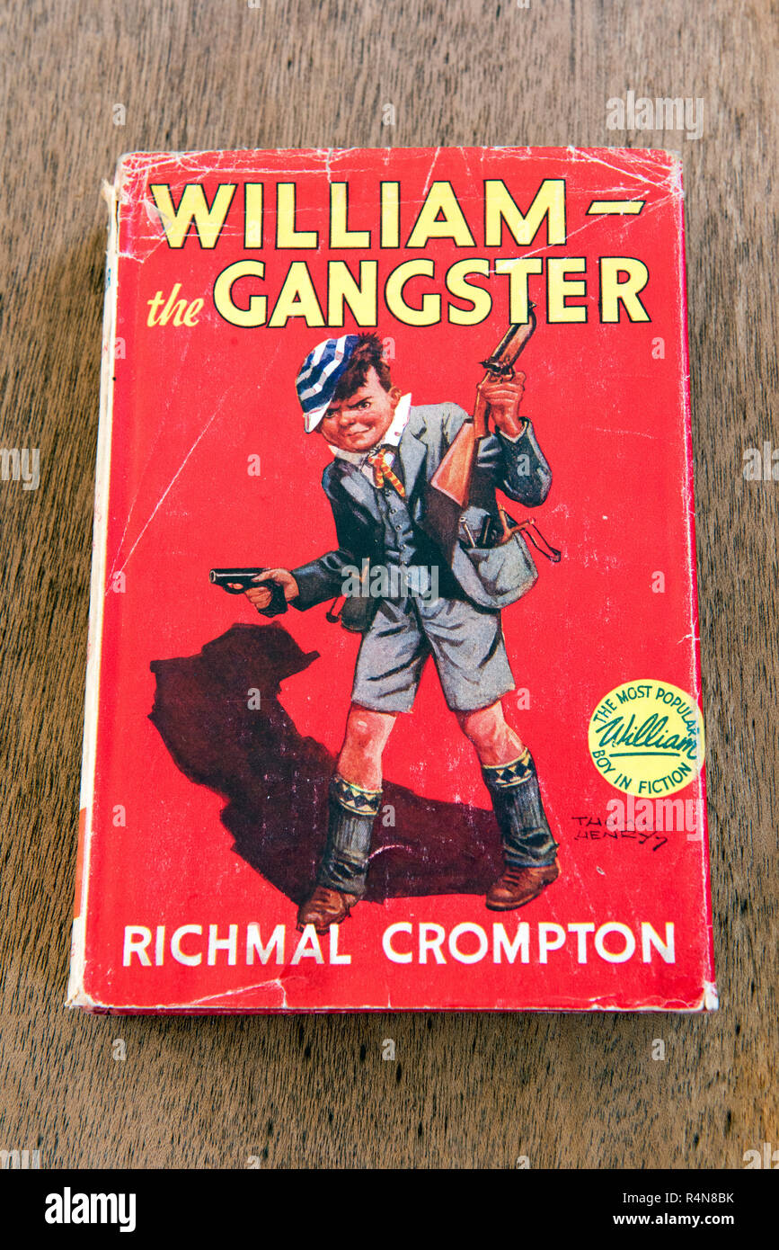 William the Gangster by Richmal Crompton 1955 hardback edition part of the Just William collection. Editorial use only. - Stock Image