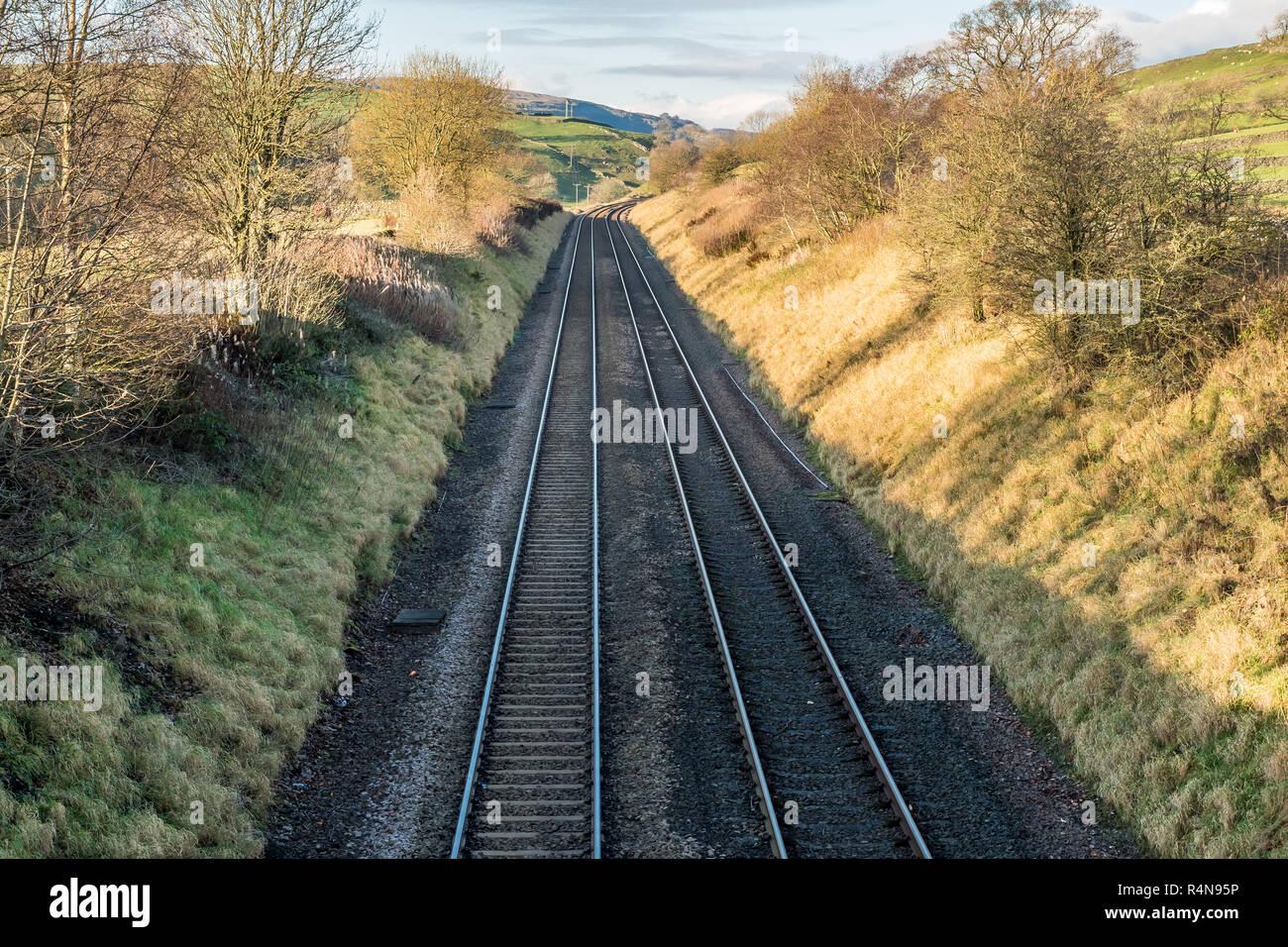 Settle Carlisle railway track - Stock Image
