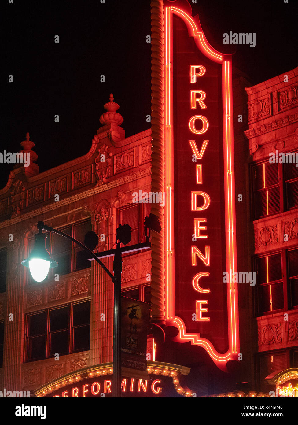 Providence Performing Art Center, Providence, Rhode Island, USA - Stock Image