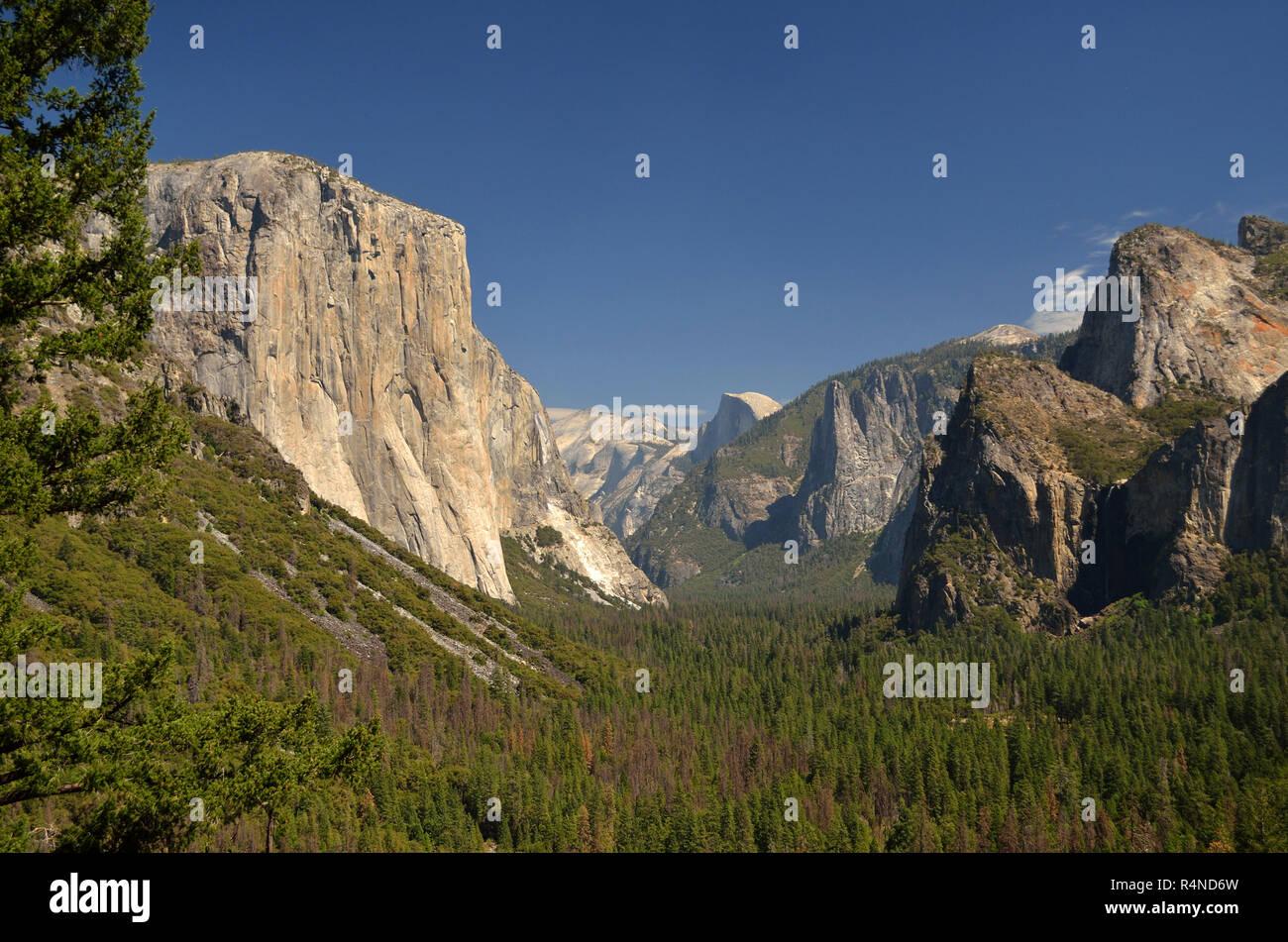 El Capitan and the Yosemite Valley, California, USA Stock Photo