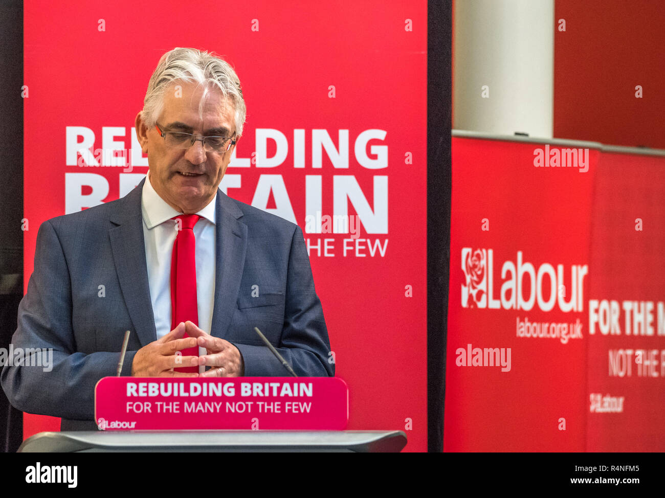 Paul Bradshaw Labour Mayoral candidate for Mansfield 2019 election. - Stock Image