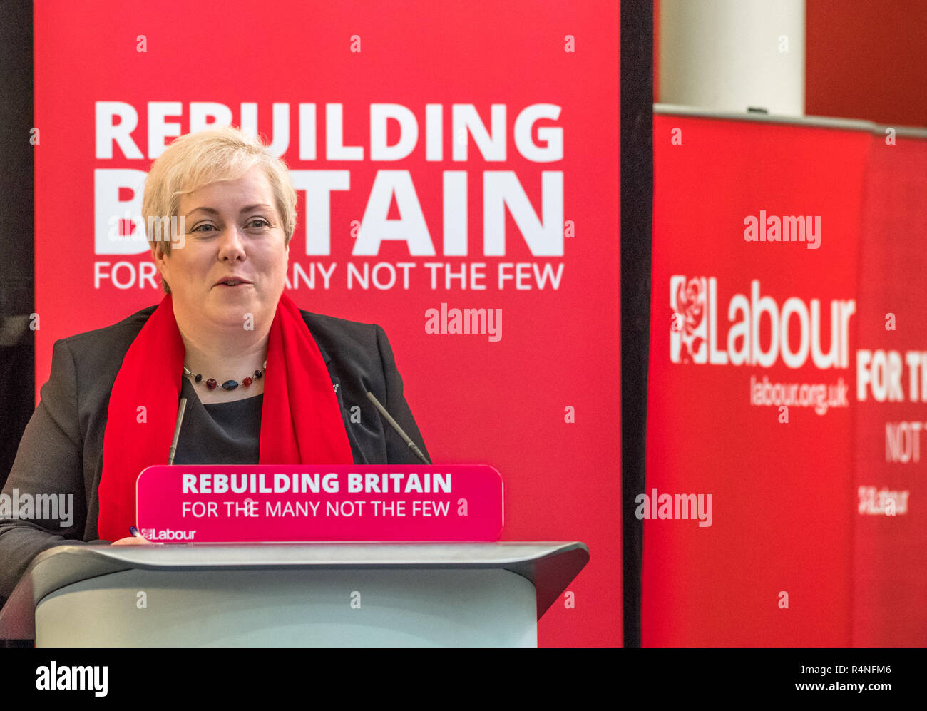 Sonya Ward, the labour party P.P.C. for Mansfield. - Stock Image