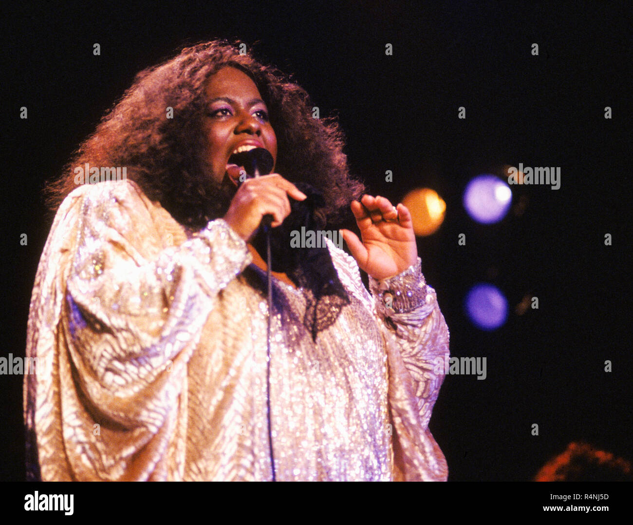 JENNIFER HOLLIDAY American singer at stage Stock Photo