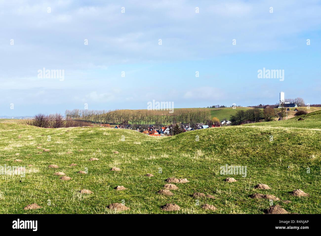 Scandinavian landscape in Scane County, south Sweden - Stock Image