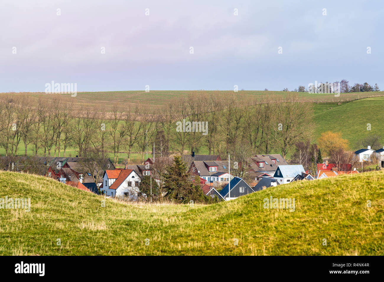 Scandinavian landscape in Scane County, south Sweden - Stock Image