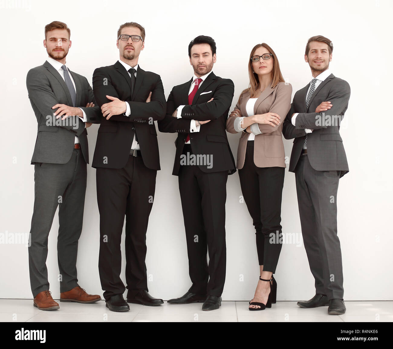 in full growth.a group of successful business people standing together - Stock Image