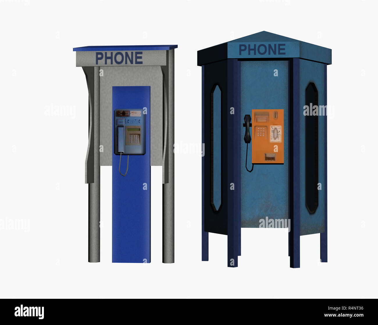 telephone booth free - Stock Image