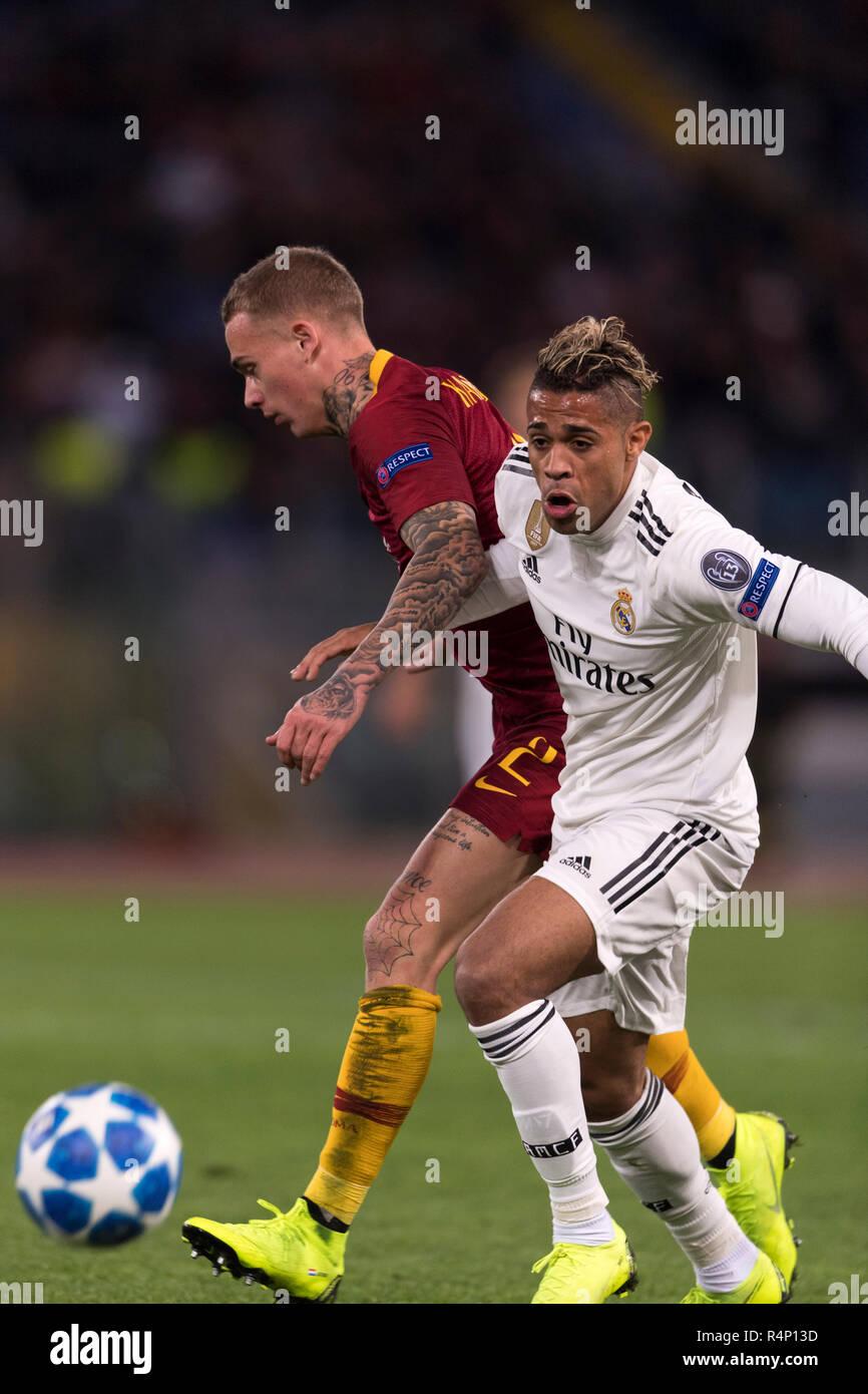 Mariano Diaz Mejia Real Madrid Rick Karsdorp Roma November 27