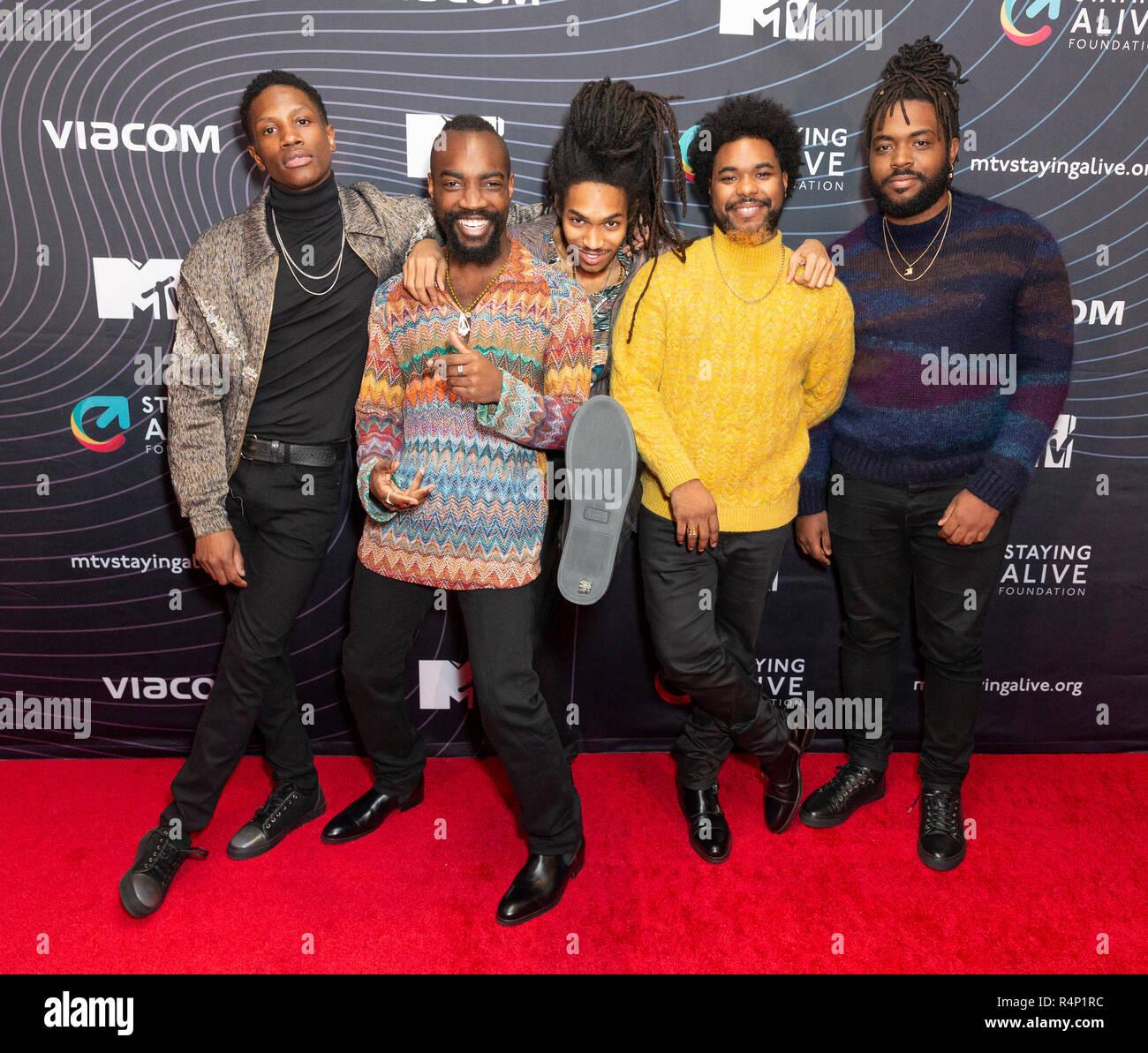 New York, NY - November 27, 2018: Phony Ppl band members