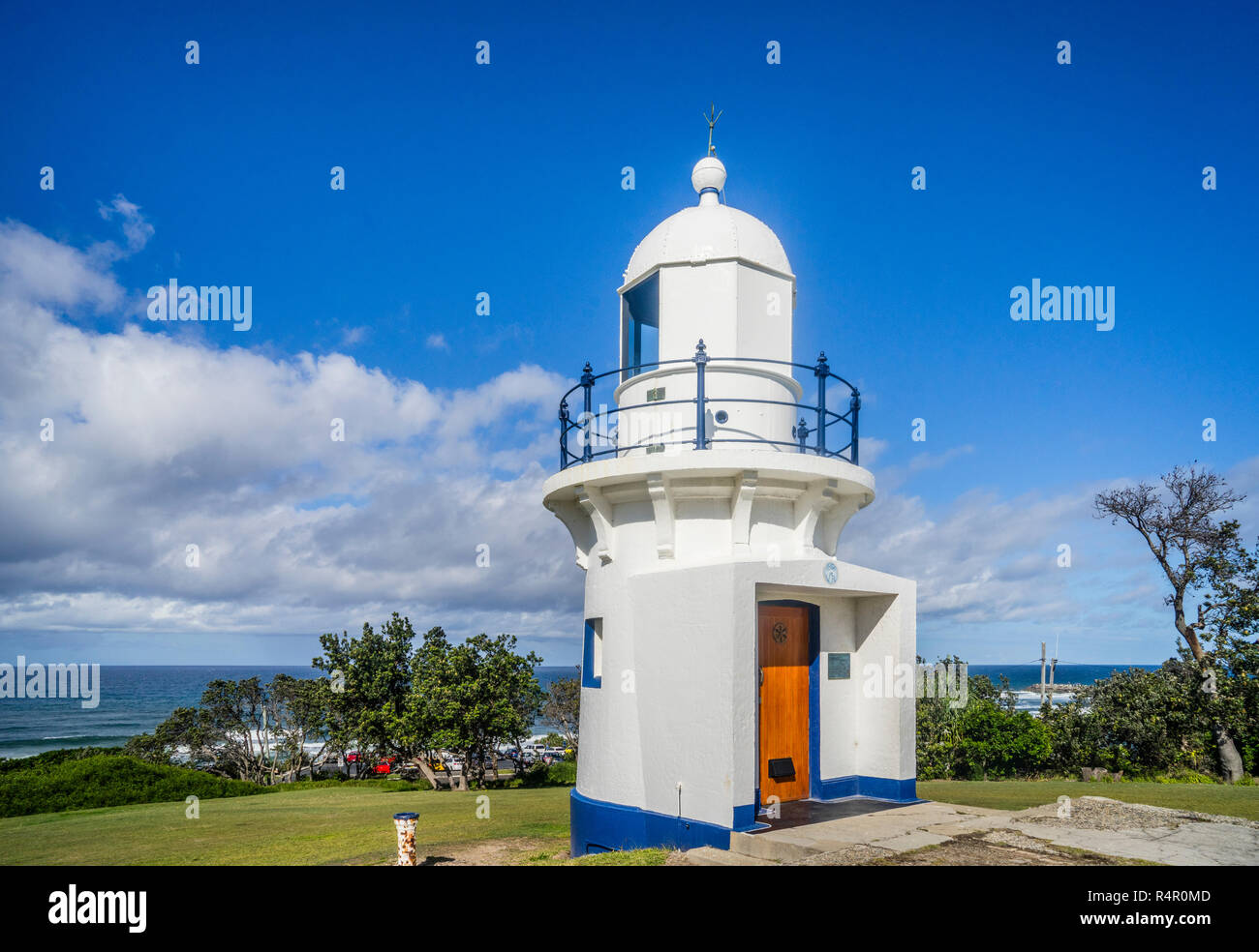 historic 1866 Richmond River Lighthouse in Ballina in the Northern Rivers region of New South Wales, Australia - Stock Image