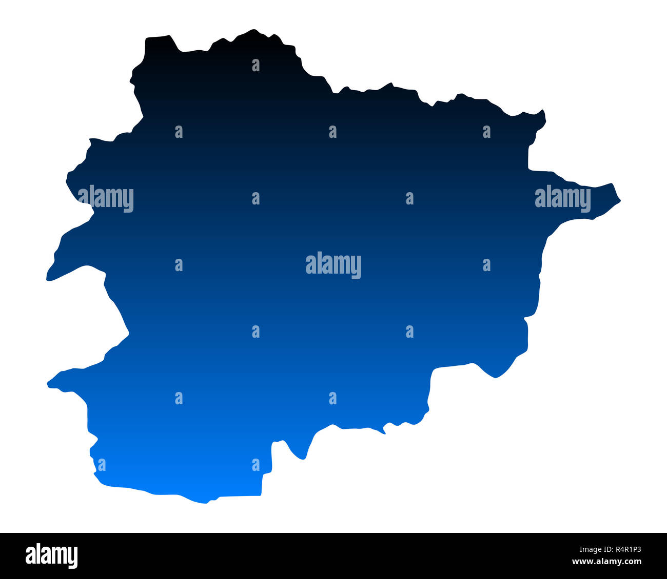 Picture of: Map Of Andorra Stock Photo Alamy