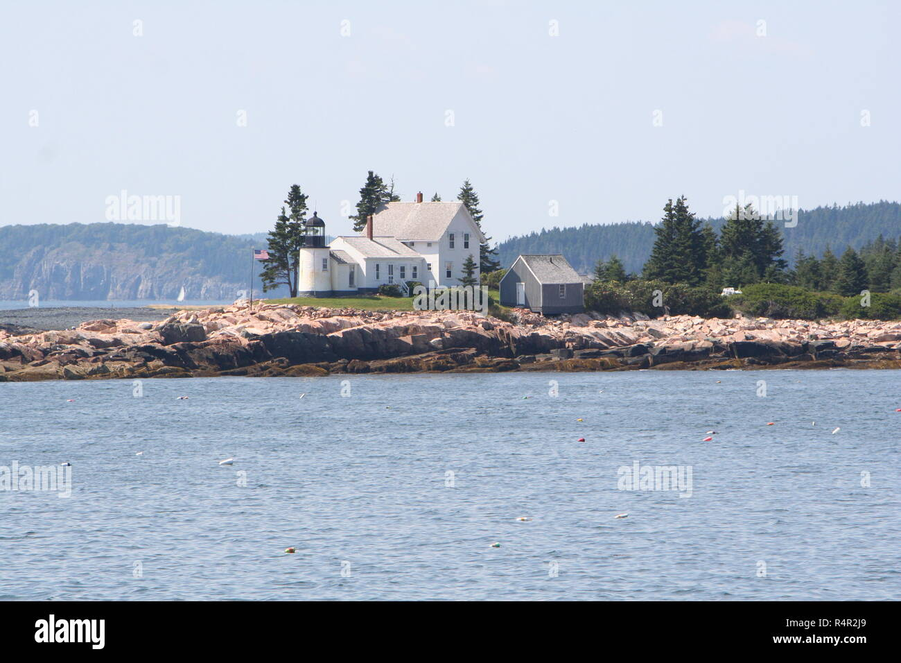 Terrific New Englands Winter Harbor Lighthouse Near Bar Harbor Maine Download Free Architecture Designs Scobabritishbridgeorg