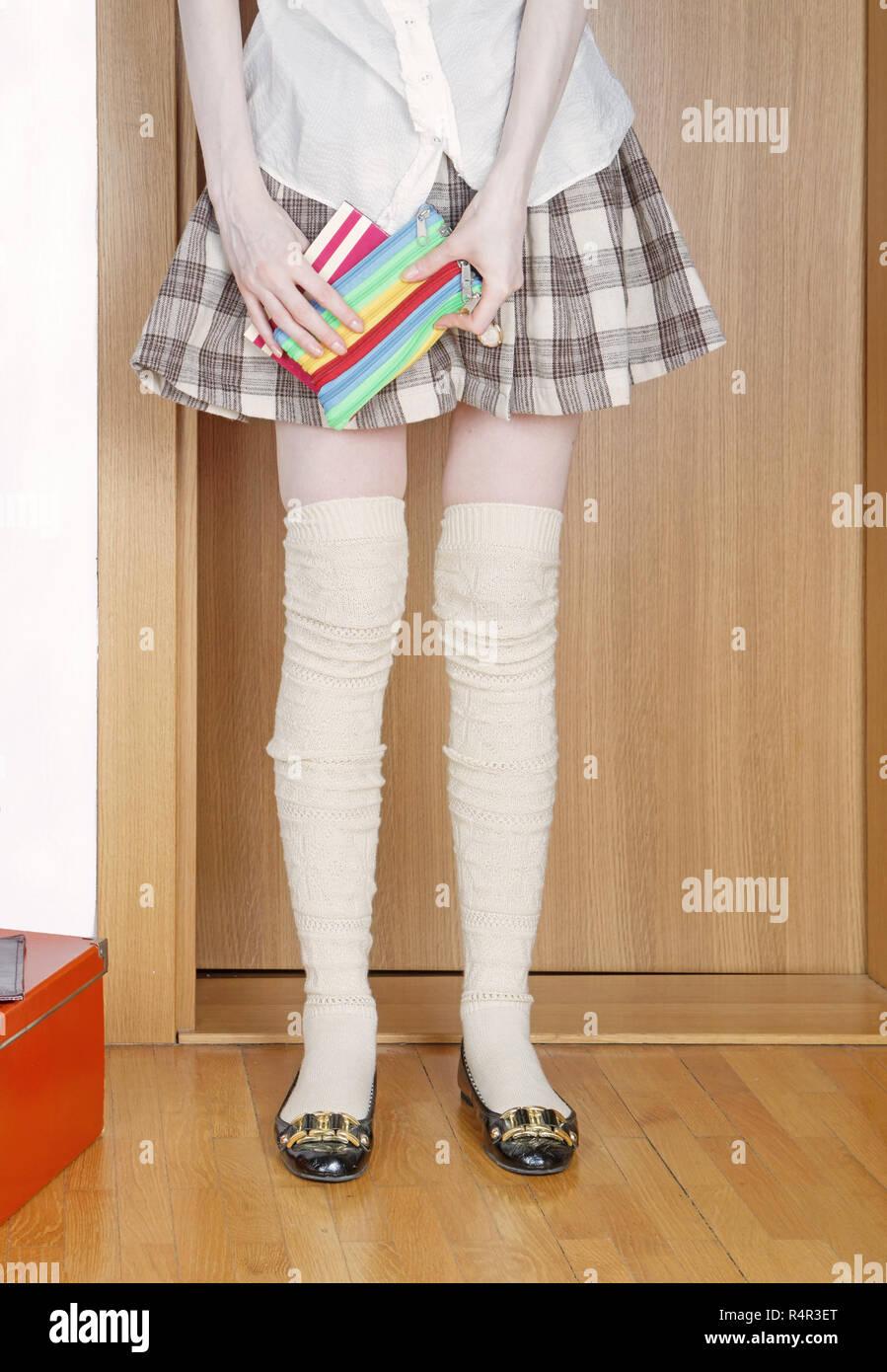 9b2559a623da Short Skirt Uniform Stock Photos & Short Skirt Uniform Stock Images ...
