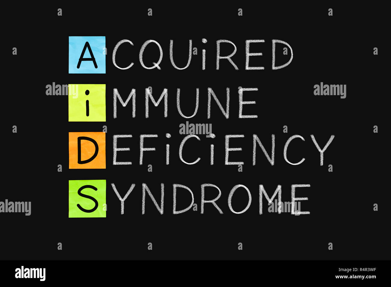Acquired Immune Deficiency Syndrome AIDS - Stock Image