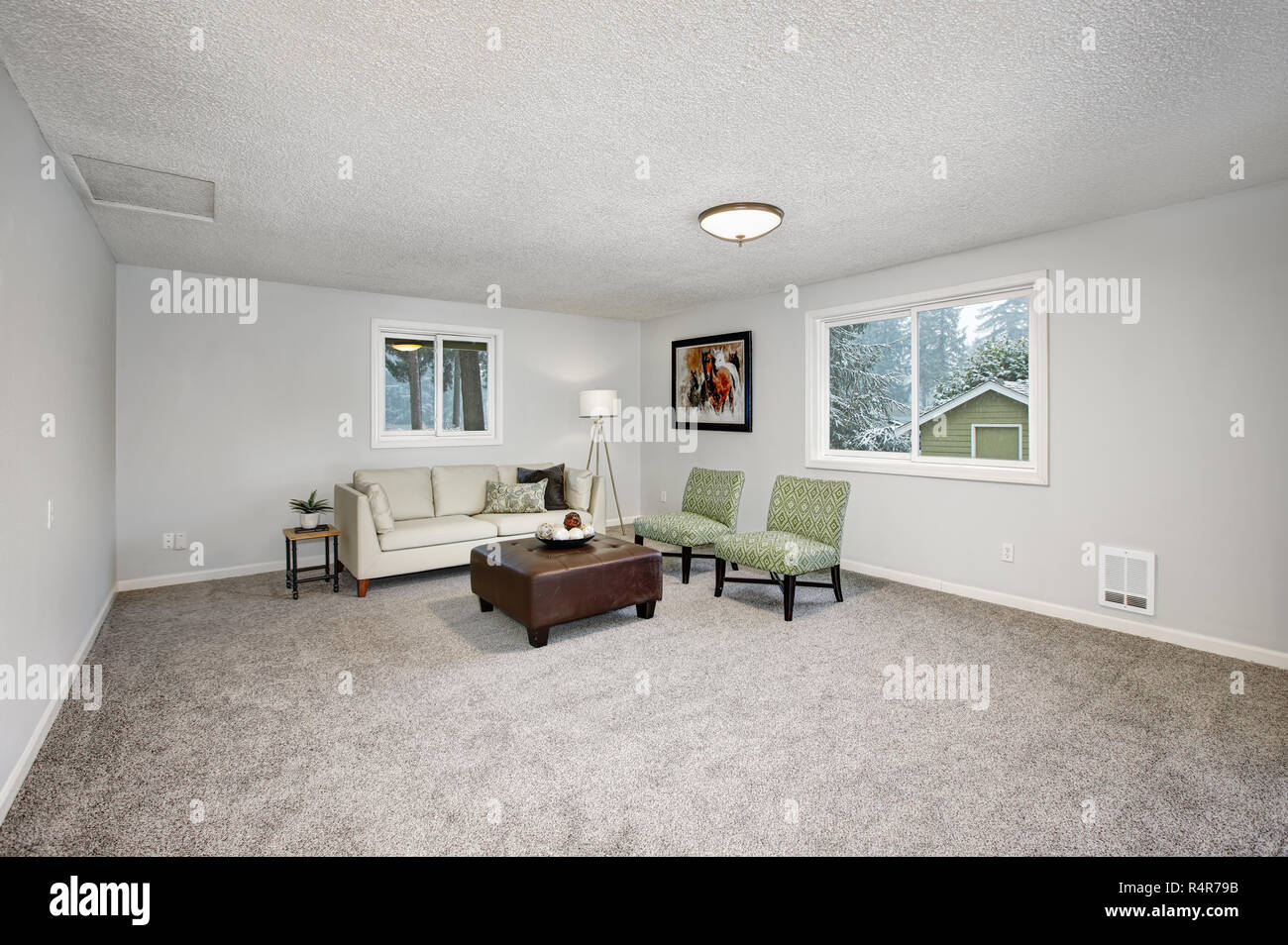 Brilliant Light Spacious Living Area With Couch Two Chairs And Short Links Chair Design For Home Short Linksinfo