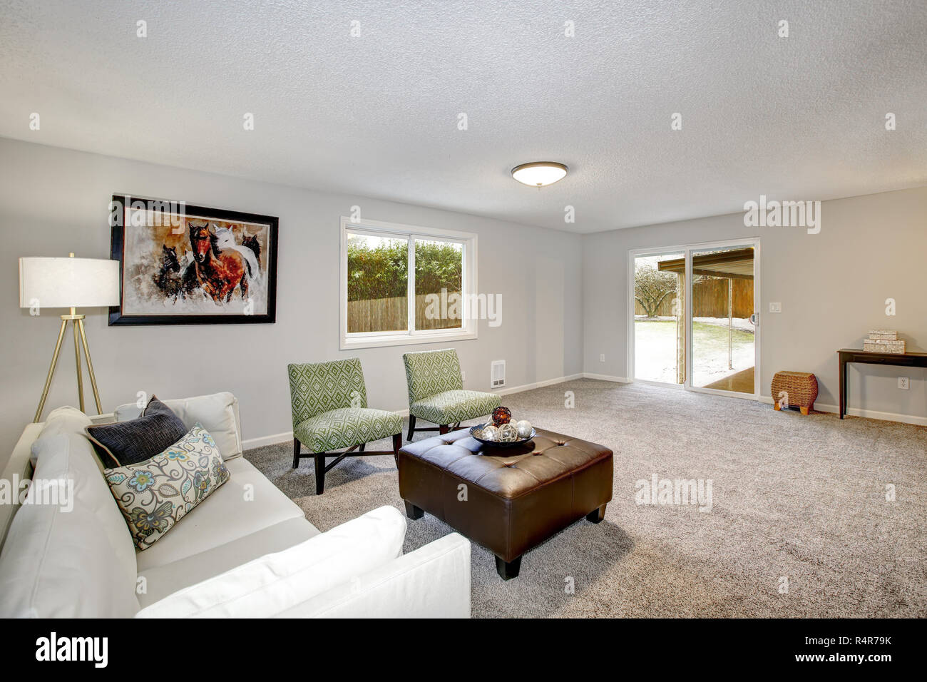 Awesome Light Spacious Living Area With Couch Two Chairs And Short Links Chair Design For Home Short Linksinfo